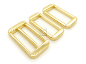 CRAFTMEmore 3.8cm 1PC GOLD Slide Buckle Adjuster with 2PCS Rectangle Rings Purse Loop Metal Craft Accessories