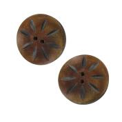 Handcrafted Shasta Daisy Horn Button Set