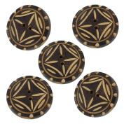 African Zulu Tribal Horn Handmade Button Set