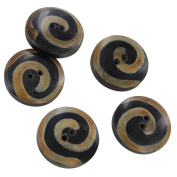 Horn Piper Heritage Hand Crafted 5 Piece Button Set