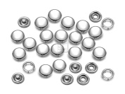 CRAFTMEmore 20 Sets 10.5MM Cloudy White Pearl Snaps Fasteners for Western Shirt Clothes Popper Studs