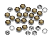 CRAFTMEmore 20 Sets 10.5MM Pearl Snaps Fasteners for Western Shirt Clothes Popper Studs