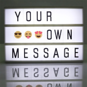 Cinema Lightbox A6 Cinematic Light Box with 90 Letters Free Combination for Wedding, Home, Photoshoots, Birthdays Party