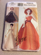 Vogue 7381 Sewing Pattern, Gene Doll Clothes, Circa 1950