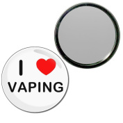 I love Vaping - 77mm Round Compact Mirror