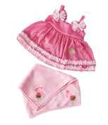 Strawberry Swimsuit 'Strawberry Swimsuit w/ Towel Fits Most 36cm - 46cm Build-a-bear, Vermont Teddy Bears, and Make Your Own Stuffed Animals
