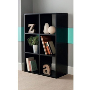 Brand New Contemporary 6 Cube wooden Bookcase Shelving Storage Unit - Black