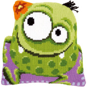 "Monster With A Flower Shaped Cushion Cross Stitch Kit-41cm ""X16"""""