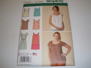 Simplicity 1423 Misses Ruffle Mini Dress Top Sizes XXS-XXL ##beckyboo9278