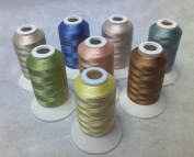 8 Same Colour Shade Polyester Embroidery Machine Thread for Janome Brother Pfaff Bernina Babylock Singer Husqvarna Machines