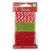 Decorative Twine / String, Festive - 3 Designs, 3 x 2 Metres, by Icon