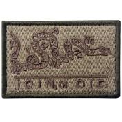 Join Or Die Tactical Embroidered Morale Applique Fastener Hook & Loop Patch - Multitan