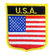 United States of America National Ameican Flag Emblem Badge Iron-on Patch