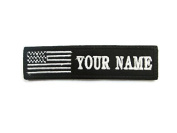 Customizable Text 1x4 Patch Hook touch fasteners - Military/Morale - US Flag Tactital tag