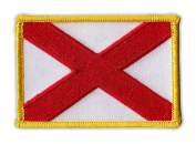 Motorcycle Jacket Embroidered Patch - Alabama State Flag - Vest, Cut, Leathers - 8.3cm x 5.7cm