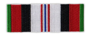 Motorcycle Jacket Embroidered Patch - Afghanistan Veteran Service Ribbon Bar - Vest, Cut, Leathers - 8.9cm x 3.2cm