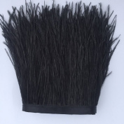 MELADY Fashion Dress Sewing Crafts Costumes Decoration Ostrich Feathers Trims Fringe With Satin Ribbon Tape