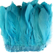 MELADY 2 Yards Fashion Dress Sewing Crafts Costumes Decoration Goose Feathers Trims Fringe With Satin Ribbon Tape