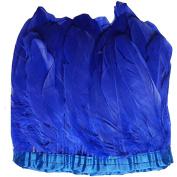 MELADY 2 Yards Fashion Dress Sewing Crafts Costumes Decoration Goose Feathers Trims Fringe With Satin Ribbon Tape