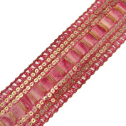 Handmade Ribbon Trim Sequin Designer Royal Border Sewing Lace Tape By The 1 Yard