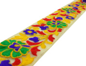 6.35 cm Wide Floral Pattern Net Fabric Embroidered Craft Trim Lace By The Yard