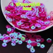 BarFeer Loose Sequins 50G 6Mm Cup Round Sequins Paillettes Sewing Decoration Artesanatos Acessorios 1# Rose Red Ab