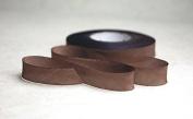 "1"" (24mm) Hand dyed silk ribbon bias cut 3 yard cutting - Colour 526 Brown"