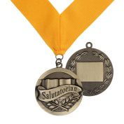 Salutatorian Award Medal on Gold Grossgrain Ribbon
