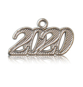 Year 2020 Silver Drop Date Signet for Graduation Tassel