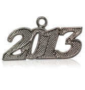 Year 2013 Silver Drop Date Signet for Graduation Tassel