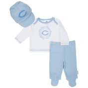 Chicago Bears Baby Boy Footed Pants, Hat and T-Shirt Set - Blue