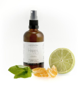 Lime, Basil and Clementine Happy Natural Room Spray With Essential Oils By Made By Coopers. 100ml Glass Bottle