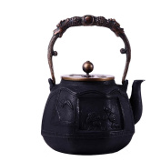 Japan Cast Iron Teapot Handicraft Non-Coated Oxidation Treatment Inner Wall Painted Screen Pattern Boiled Water Tea 1.8L