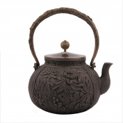 Japan Cast Iron Teapot Handicraft Non-Coated Oxidation Treatment Of Inner Wall Boiling Water Brewing 1.8L