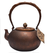 Japan Copper Teapot Handicraft Pure Copper Material Non-Coated Home Decoration Ice Cracks Boiling Water 1.2L
