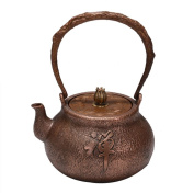 Japanese Copper Teapot Handicraft Pure Copper Material Non-Coated Home Decoration Zen Tea Blindly Boil Water 1.2L