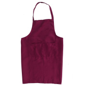 Yeah67886 Gardening Cooking Painting Craft Sleeveless Waterproof Apron with Pockets 70 x 60cm Burgundy