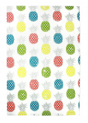 MUkitchen 6629-1756 Designer Print Cotton Dishtowel Dish Towel,Pineapple Medley