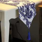 Tang Moine Blue Floral Decoration Table Runner Kitchen Home And Hotel Party,30*180cm
