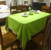 LD & P Luxurious pure colour easy to wash the restaurant dining tablecloth multi-functional party camping picnic table cloth size,green,140*140cm