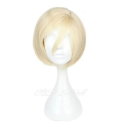 COSPLAZA Light Blonde Side Parted Unisex High Temperature Synthetic Cosplay Wig