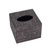 Retro Pumping Tray Office Toilet Living Room Car Tissue Box Holder Cover