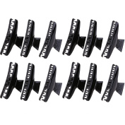 Demiawaking 12Pcs Salon Hairdressing Clips Butterfly Hair Claw Hair Styling Section Clamps Haircut Grip Black