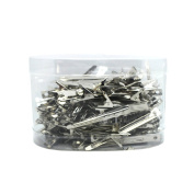 Demiawaking 85Pcs Stainless Steel Salon Hairdressing Clips Long Mouth Hair Styling Section Clamps Haircut Grip Hair Clips