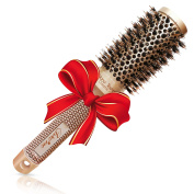 Best Blow Dry Round Hair Brush with Natural Boar Bristles for blowouts -Get Healthy Shiny Frizz-Free Hair with this Professional Salon Hair Styling Brush Large