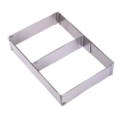 Stainless Steel Adjustable Cake Moulds Rectangle Cake Mousse Baking Ring Tins