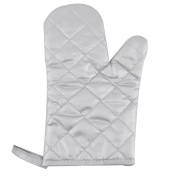 sourcingmap® Polyester Family Plaid Design Heat Resistant Insulated Hand Protector Oven Mitt