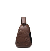 ANNE Men's Casual Shoulder Bag Classic Water Drop Shape Chest Pack