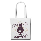 Animal Planet Don't Poke The Bear Tote Bag by Spreadshirt®