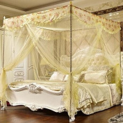 FUNAN Court Mosquito Nets Floor Style Princess Mosquito Nets Square Top